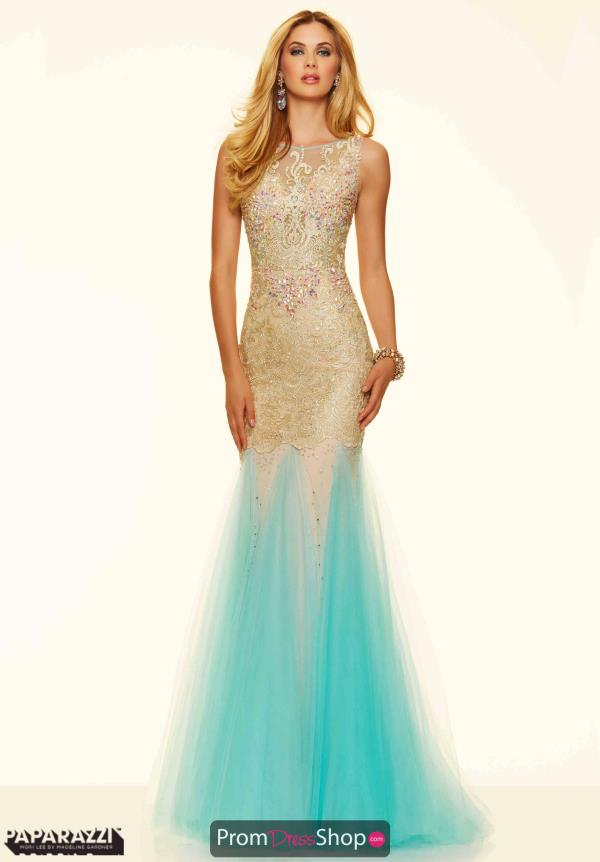 Open Back Long Mori Lee Dress 98017