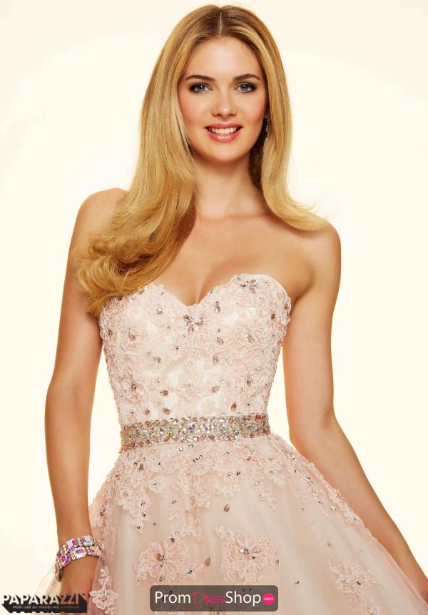 Mori Lee Strapless Plus Size Dress 98018