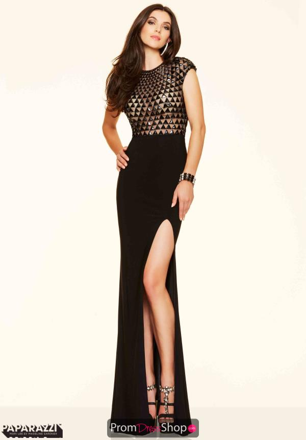 Mori Lee Jersey Fitted Black Dress 98025