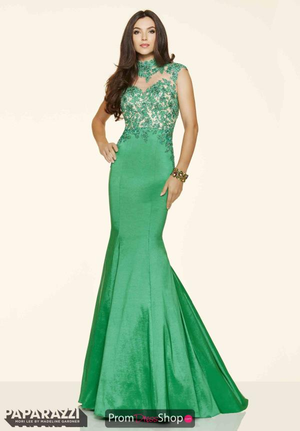 Mori Lee Special Occasion Green Dress 98049