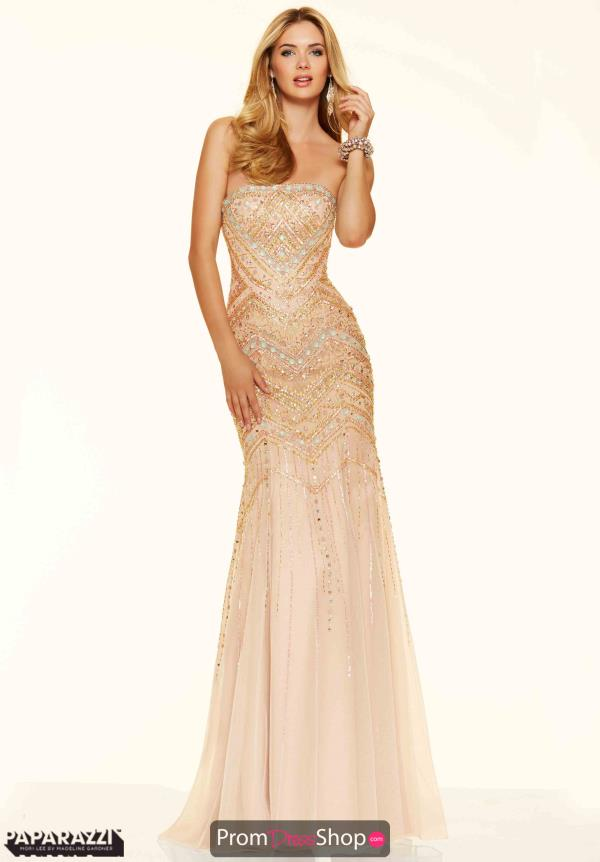 Strapless Fitted Mori Lee Dress 98084
