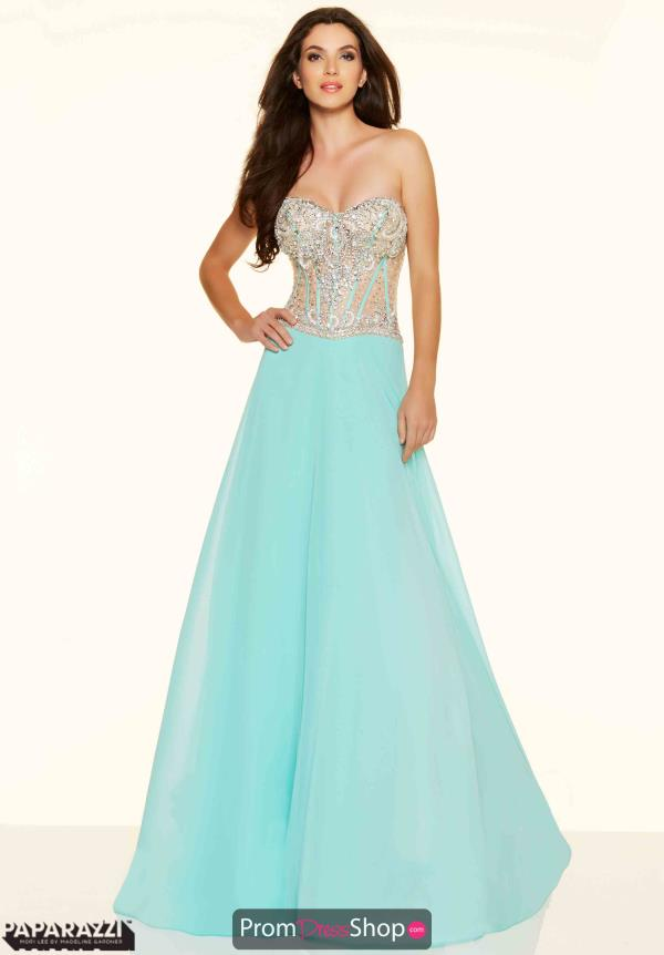Mori Lee Beaded Long Corset Dress 98092