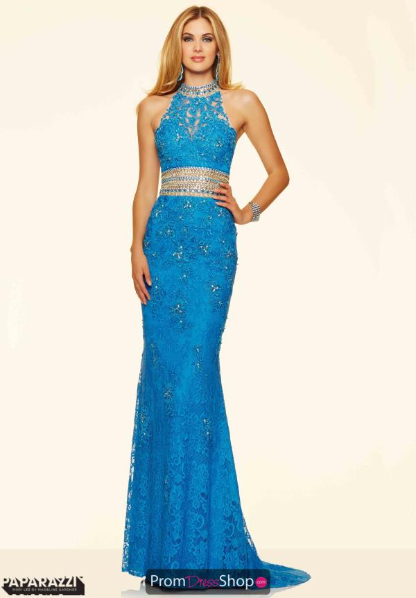Long Fitted Mori Lee Orange Dress 98110