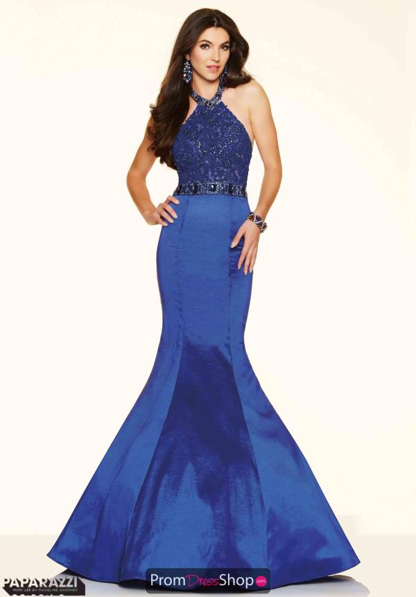 Mori Lee Lace Mermaid Dress Blue 98125