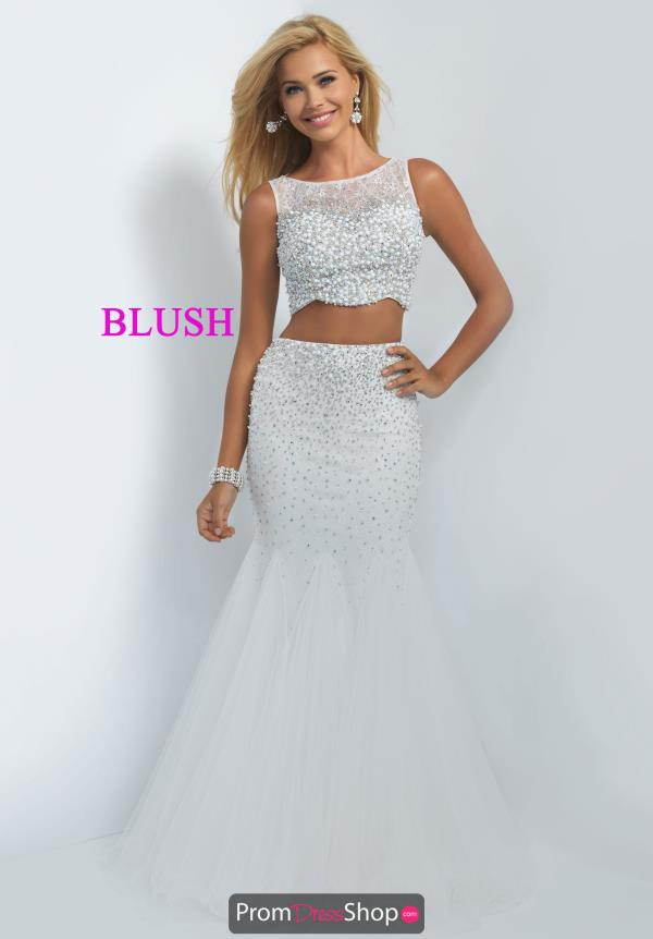 Blush Beaded Two Piece Dress 11003