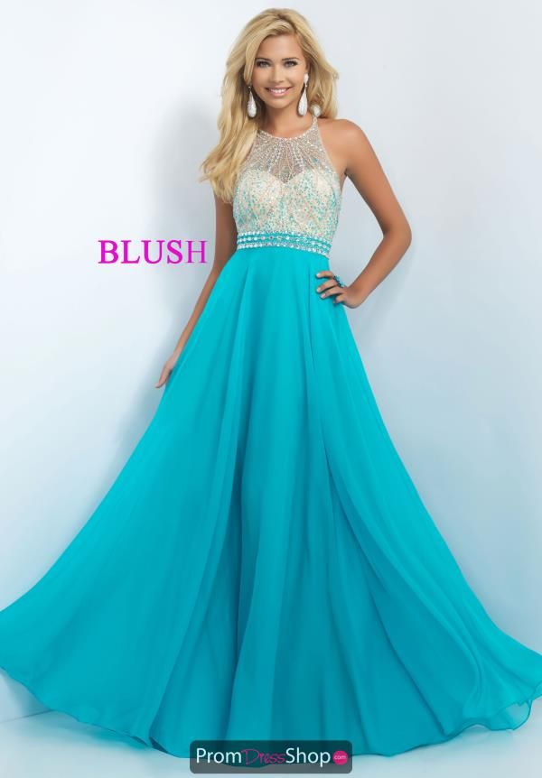 Blush Beaded Turquoise Dress 11052