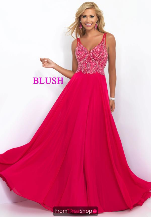 Stunning Navy A Line Blush Dress 11058