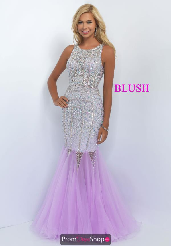 Open Back Beaded Blush Purple Dress 11101
