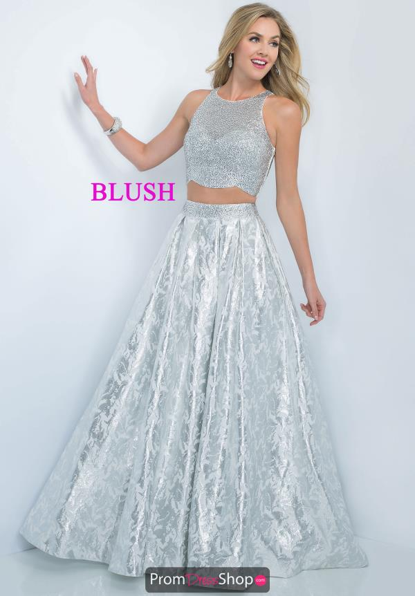 Beaded Two Piece Blush Dress 5508