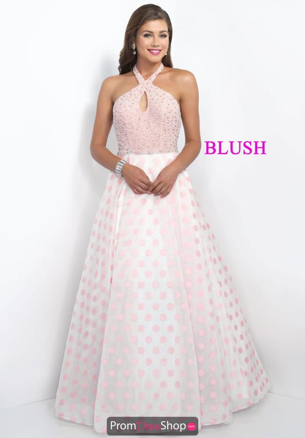 Blush Halter Top A Line Dress 5516