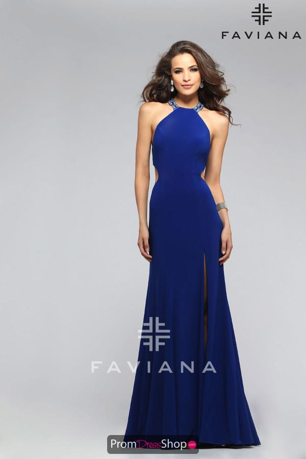 Faviana Sexy Cutout Fitted Dress 7543