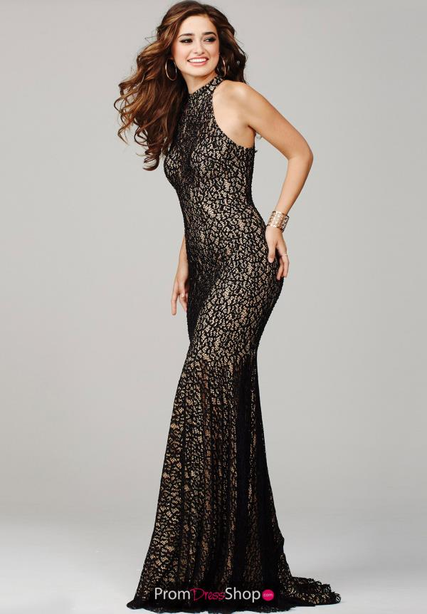 Sophisticated Jovani Lace Evening Gown 25100