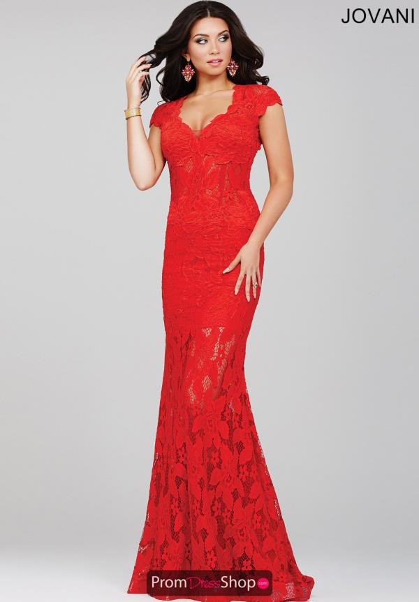Jovani Sleeved Fitted Dress 26961