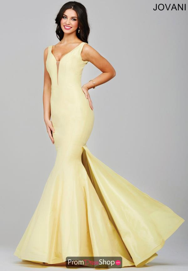 Yellow Jovani Prom Dresses 83