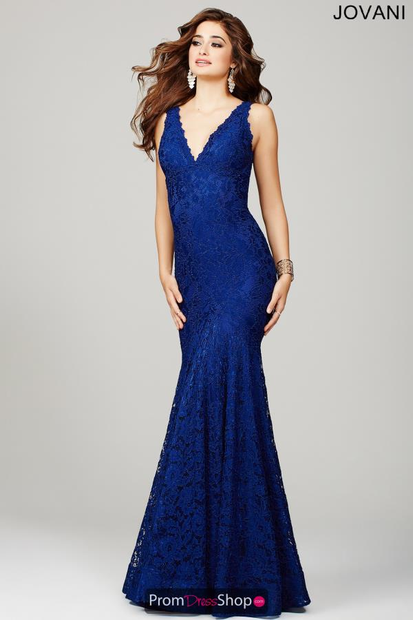 Jovani V- Neckline Long Dress 33050
