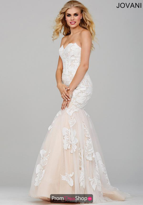 Amazing Beaded Ivory Jovani Dress 33531