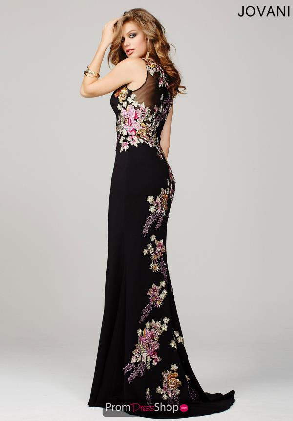 Jovani Fitted Floral Dress 33679