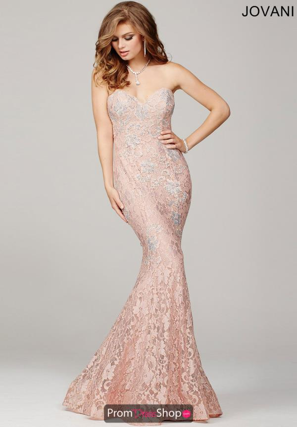 Jovani Lace Engagement Dress 34082
