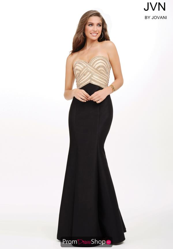 Taffeta Fit and Flare JVN by Jovani Dress JVN33933