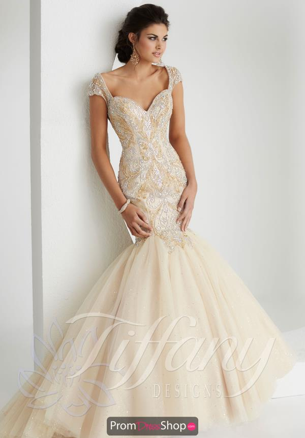 Champagne Elegant Tiffany Mermaid Dress 16145