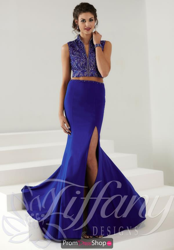 Elegant Two Piece Tiffany Dress 16192