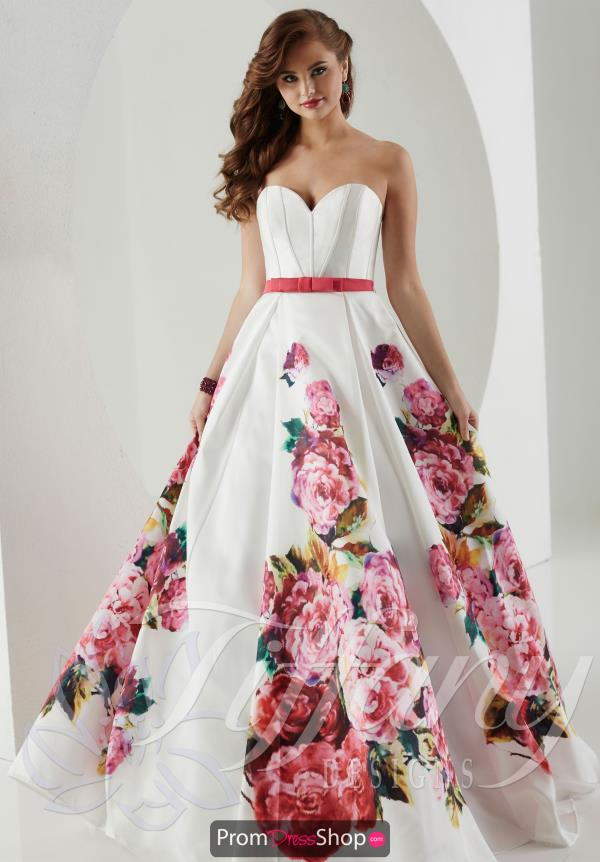 Tiffany Print Prom Dress Style 61147