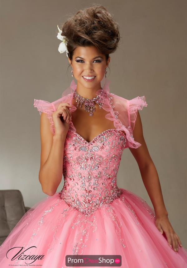 Pink Beaded Vizcaya Quinceanera Dress 89062