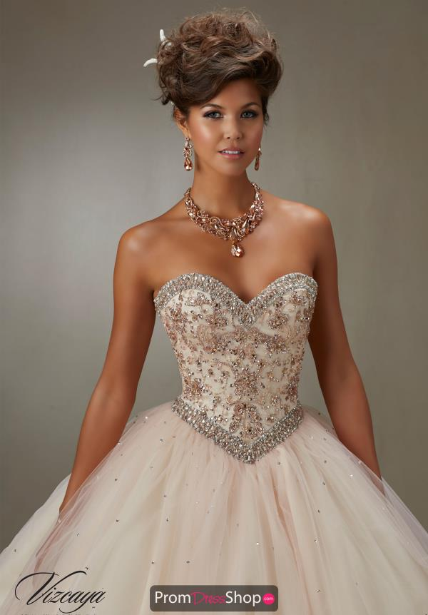 Vizcaya Quinceanera Beaded Sweetheart Neckline Dress 89073