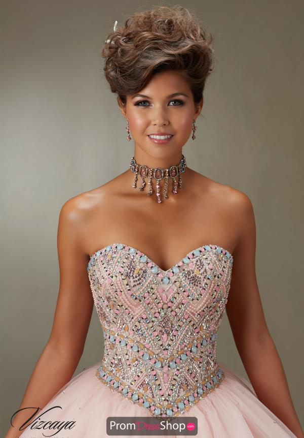 Sweetheart Neckline Beaded Vizcaya Quinceanera Gown 89076