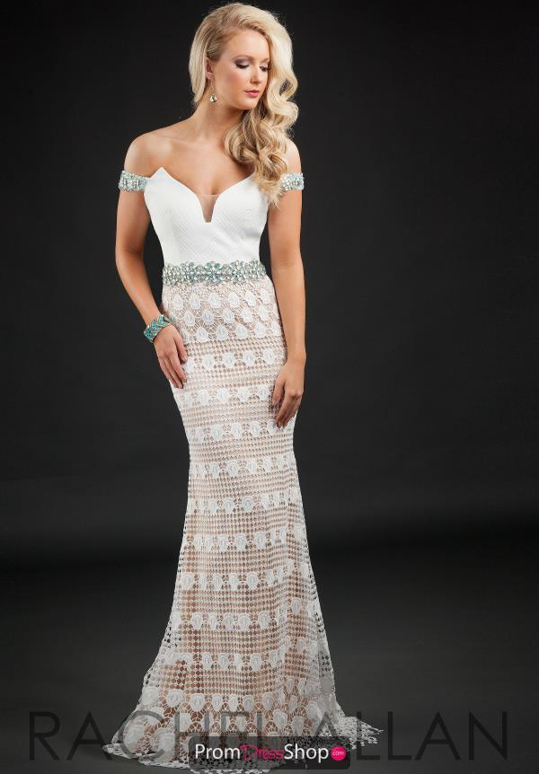 Long Beaded Rachel Allan Dress 7104