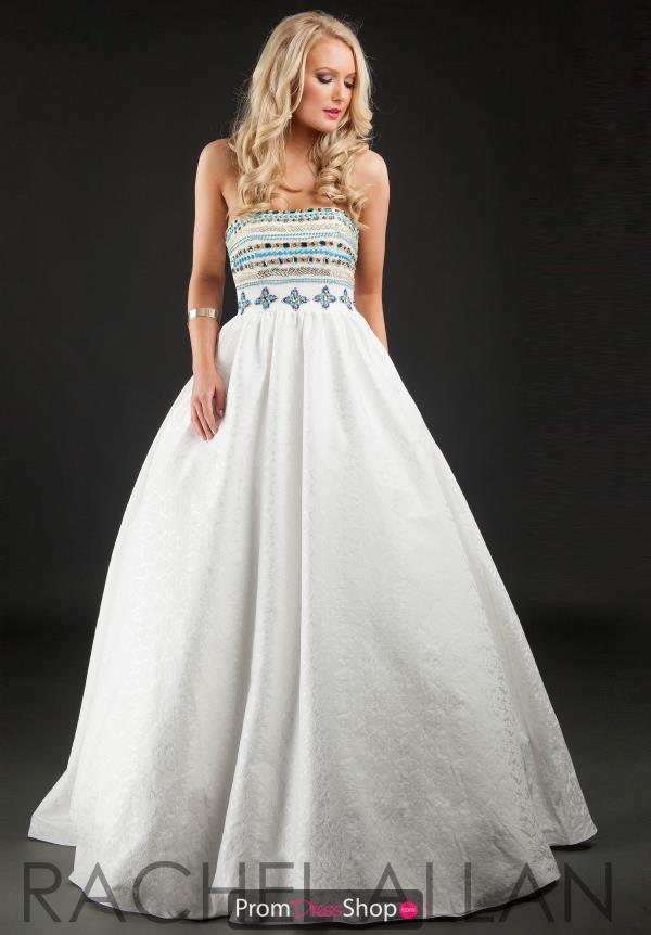 Long Beaded Rachel Allan Dress 7177