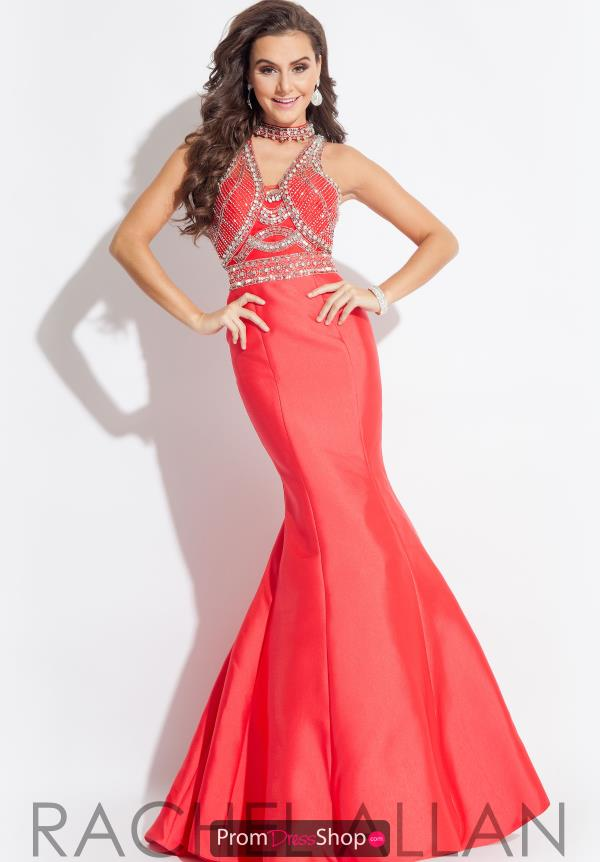 Beaded Mermaid Rachel Allan Dress 7179