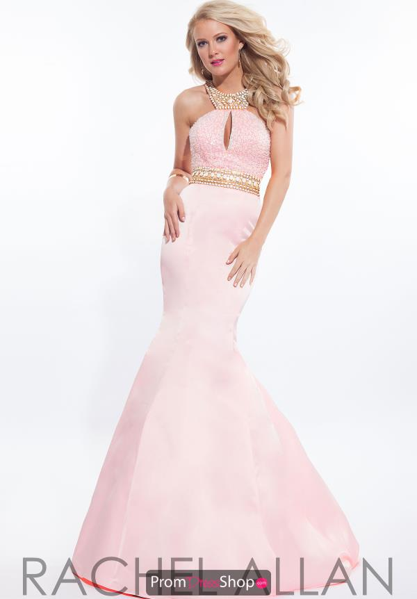 Rachel Allan Satin Mermaid Dress 7215
