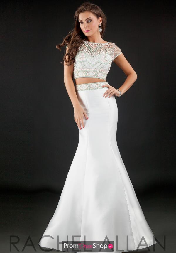 Rachel Allan Sleeved Two Piece Dress 7258