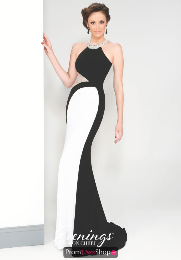 Black Fitted Evenings by Mon Cheri Dress MCE11617