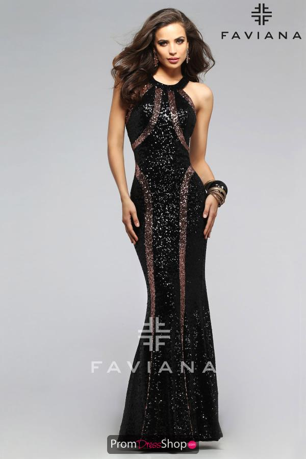Long Fitted Faviana Dress 7708