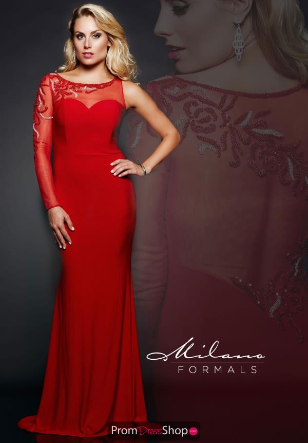 Milano Formals Long Red Dress E1861