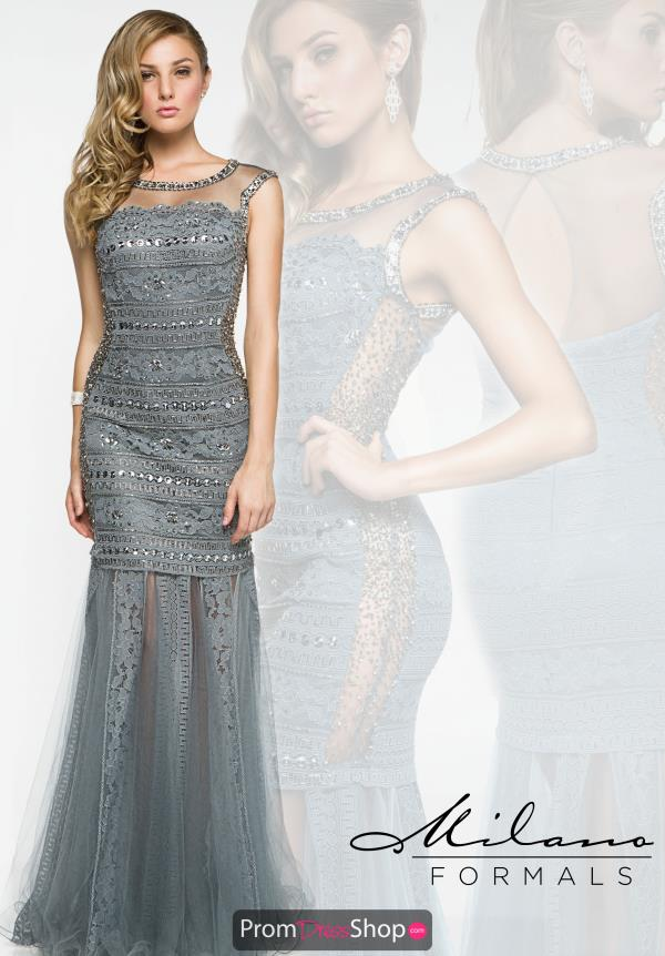 Milano Formals Fit and Flare Long Dress E1909