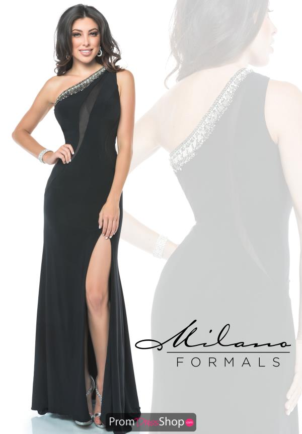 Milano Formals Black Fitted Dress E1916