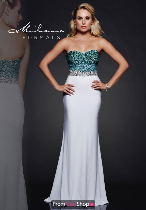 Milano Formals White Fitted Dress E1964