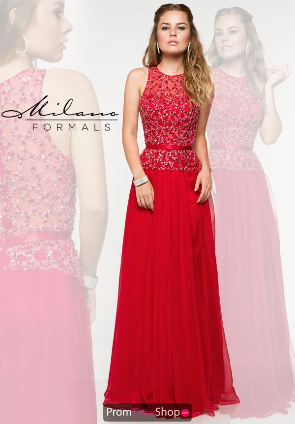 Milano Formals Beaded Long Dress E1863