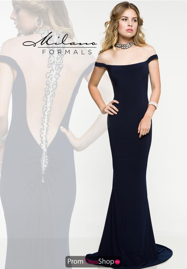 Milano Formals Fitted Long Dress E1885