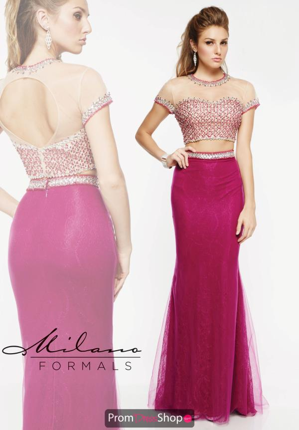 Milano Formals Fit and Flare Two Piece Dress E1919