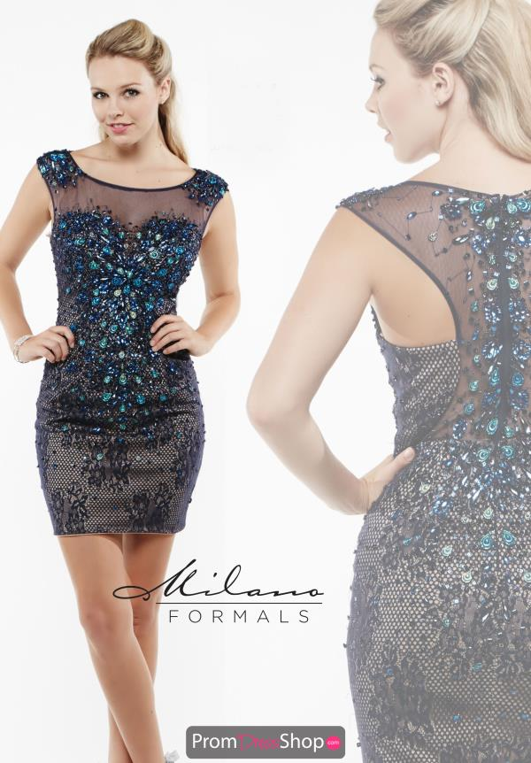 Milano Formals Lace Fitted Dress E1946