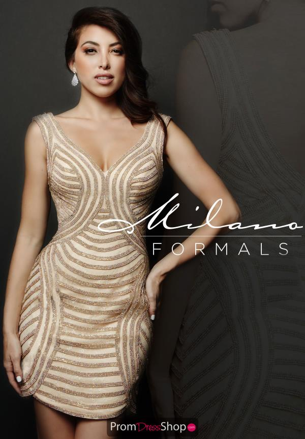 Milano Formals Beaded Short Dress E1972