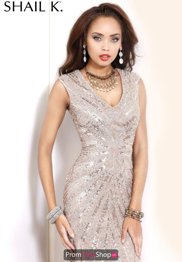 Shail K Sleeved Sequins Dress 3749