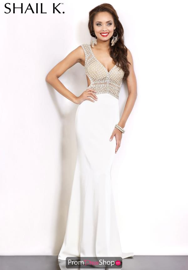 Sexy Beaded Ivory Shail K Dress 3972