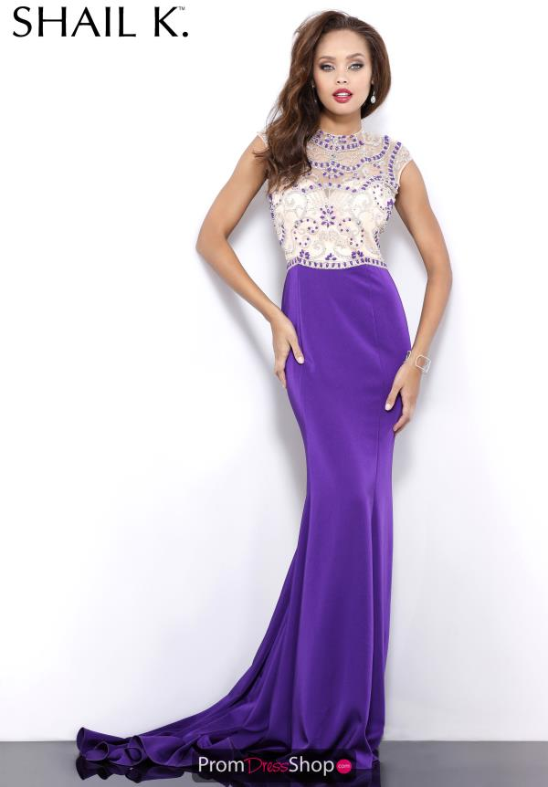 Long Purple Shail K Purple Dress 3982