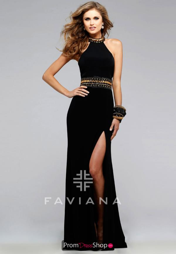 Halter Neckline Faviana Dress 7704