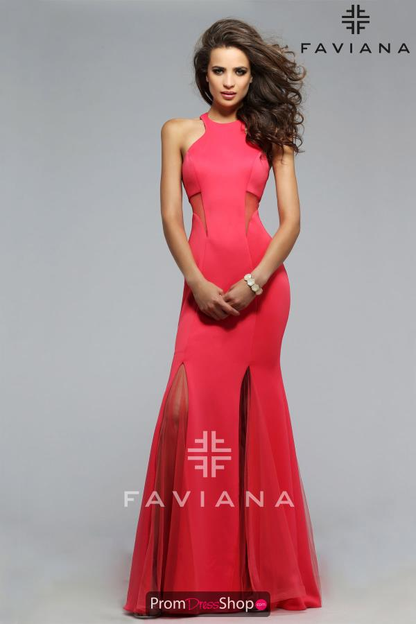 Faviana Fitted Dress 7748